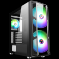 Itek Case MAJES 20 Gaming Full Tower, 2x20cm ARGB fan, USB3, Front TG