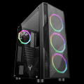 Itek Case Shake MESH Gaming Middle Tower, USB3, 4x12cm ARGB fan, Side Panel Temp Glass