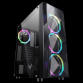 Itek Case Shake Gaming Middle Tower, USB3, 4x12cm ARGB fan, Side Panel Temp Glass