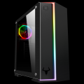 Itek Case VERVE Gaming Middle Tower, 2xUSB3, 12cm ARGB fan, Side Panel Temp Glass