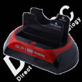 Dock Station IDE + Sata - Dual Disk USB3 Dirtec